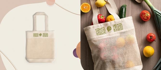 sac à courses, écologique, coton