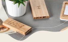 powerbank batterie de secours bois bambou developpement durable recyclé